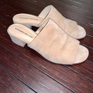 Antonio Melani Junni Tan Suede Heels Shoes